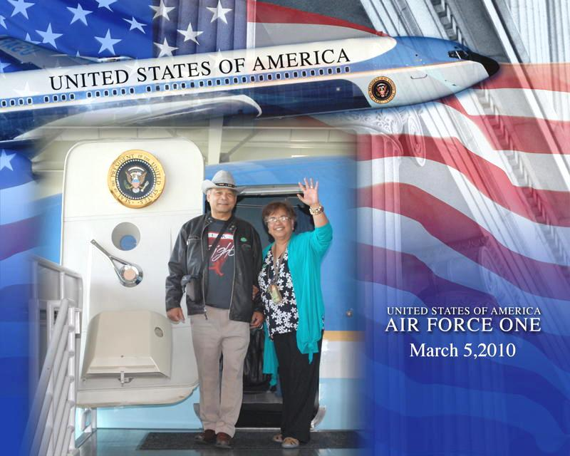 Jim and Emily at the Reagan Library, Simi Valley, CA